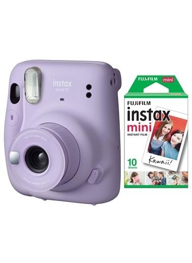 Fujifilm instax mini 11 Lila Fotoğraf Makinesi 10lu Film Lila